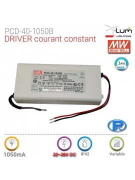 Driver 40W dimmable Meanwell PCD-40-1050B Triac