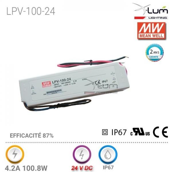 Distributeur Meanwell LPV-100-24