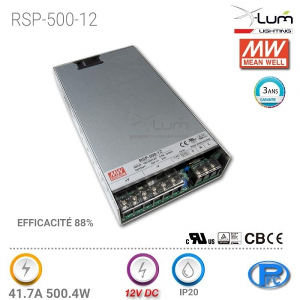 Distributeur Meanwell RSP-500-12