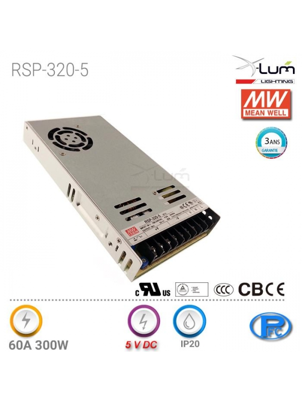 Distributeur Mean-well RSP-320-5