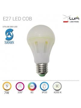 PROJECTEUR LED PELLE 10W 4500K 120° 230V Epox Blanc
