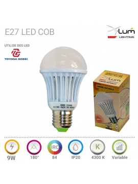Ampoule E27 Mcob 9W neutre X-Lum-Lighting