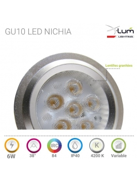 Gu10 6W LED  Variable Haut gamme X-Lum-Lighting