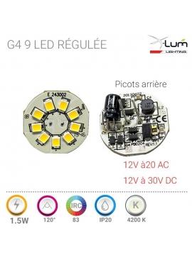 SPOT LED ALU JARDIN 9W 4K5 30° 12V DC IP65