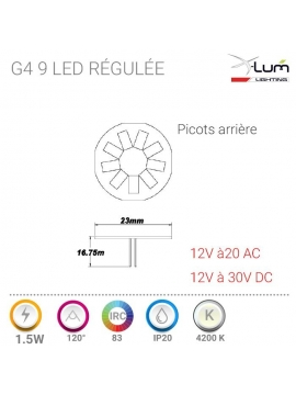 Ampoule G4 LED 1.5W neutre