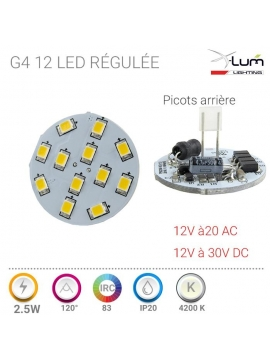 G4 LED neutre Pro 2.4W X-Lum-Lighting