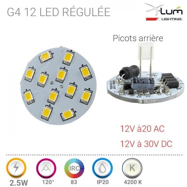 G4 LED neutre Pro 2.4W X-Lum-Lighting