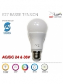 E27 LED 10W 24-36V basse tension