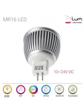 SPOT LED PIQUE JARDIN 3W CHAUD 30° 12V DC IP65
