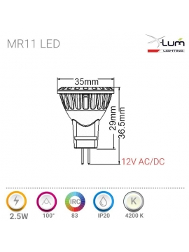 MR11 LED neutre Pro