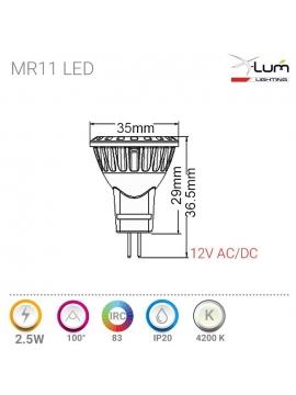 SPOT LED PIQUE JARDIN 3W RGB 30° 24V DC IP65