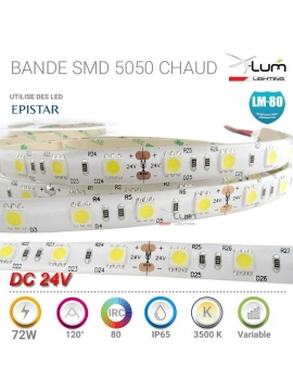 Bande LED 72W professionnelle Chaud 3200K