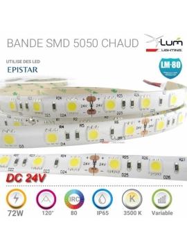 Bande LED 5050 Pro 3200K Chaud 3500K