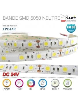 Bandeau LED 5050 72W Neutre 4200K Pro