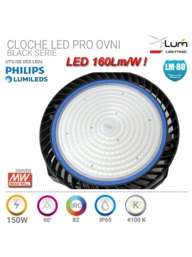 Cloche LED industrielle 150W 160Lm/W distributeur