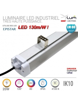 Luminaire LED garage 20W IK10 pro