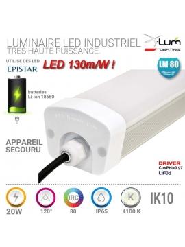 HUBLOT LED 20W DETECTEUR 5500K IP65 LUM BLANCHE