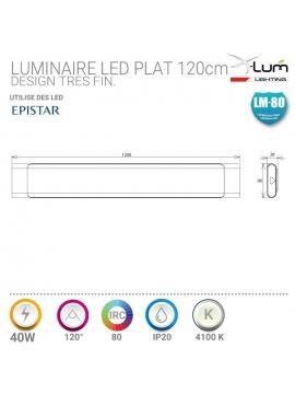 Luminaire 40W extra plat suspendre