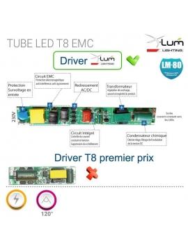 Tube LED 60cm 10W 130Lm/W EMC