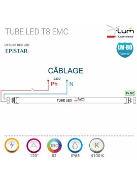 T8ALUX025NQ4VAF-T8-Cablage