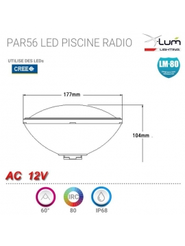 PAR56 piscine LED RGB radio