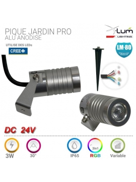 Piquet LED RGB jardin Pro X-Lum-Lighting