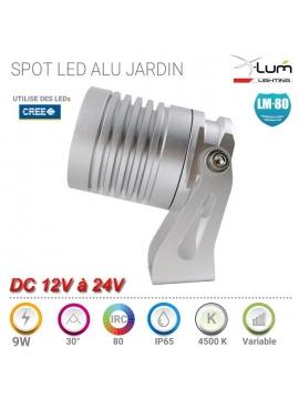 Spot pique Jardin LED 9W Aluminium anodisé