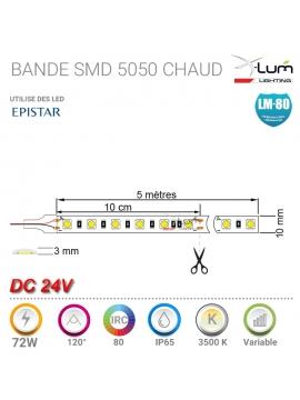 Bande LED X-lum-Lighting 5050 IP65 chaud