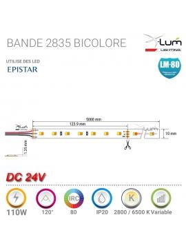 Bandeau LED Bicolore 110W chaud-Blanc