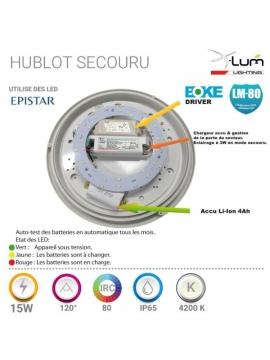 Fournisseur hublot LED secours 15W Pro