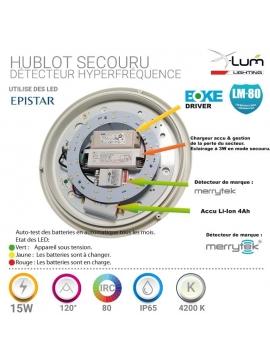 Hublot secouru LED détecteur pro lifud