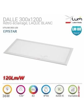 Dalle LED 300x1200 36W 120Lm/W pro