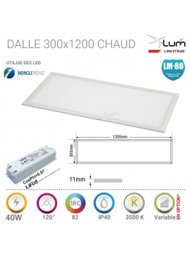 Panneau LED Pro 40W chaud X-Lum-lighting