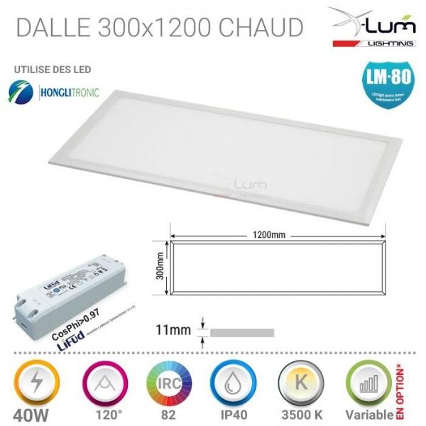 Panneau LED Pro 40W chaud X-Lum-lighting