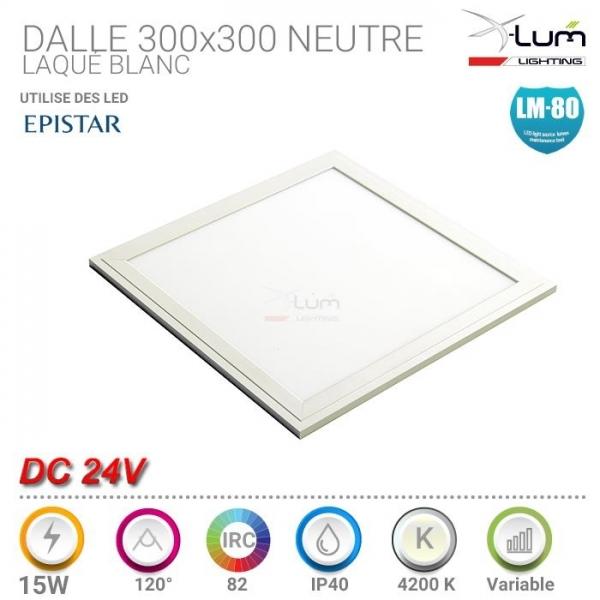 Panneau LED 300x300 24V neutre