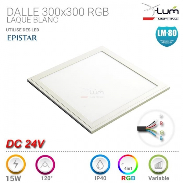 Dalle LED RGB 300x300 24V