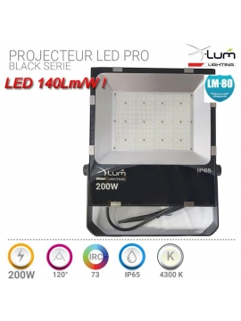 Projecteur 200W LED haute puissance Pro X-Lum-lighting