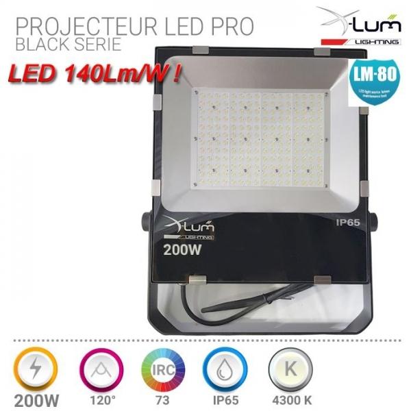 Projecteur 200W LED haute puissance Pro X-Lum-lighting