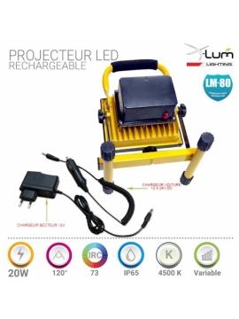 Projecteur LED 20W batterie Pro
