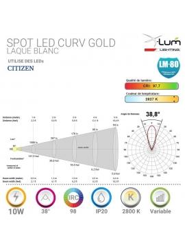 Spot LED 10W pro dimmable CRI90 X-Lum-Lighting