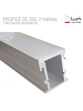 profilé alu LED encastré sol Distributeur X-Lum-Lighting