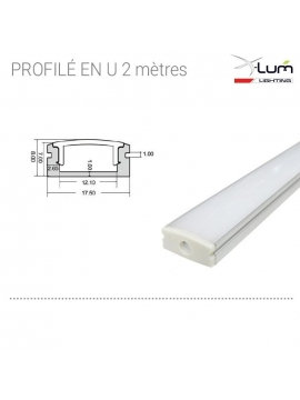 profilé LED 2 mètres Plat fournisseur Tarif pro