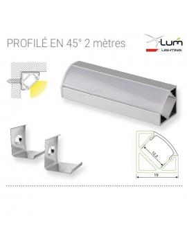 Profilé LED 45° fournisseur france X-Lum-Lighting
