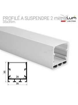 profilé LED suspendre plafond. pro