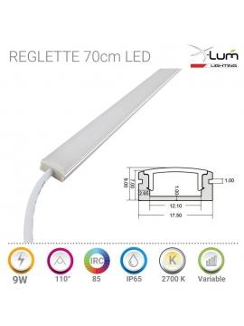 Réglette LED 70cm étanche chaud IRC90
