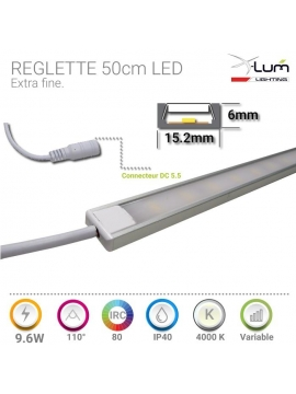 Réglette LED 9.6W 50cm neutre X-lum-Lighting