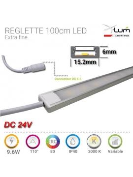 Réglette LED 1M 19.2W 24V chaud