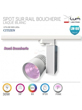 Spot LED boucherie rail 30W rosé X-Lum-lighting