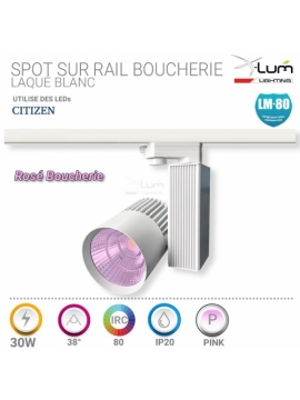 Spot LED boucherie rail 30W rosé X-Lum-lighting