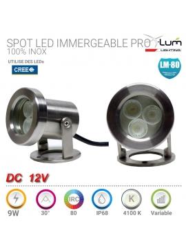 Spot 9W inox LED 4K Pro IP68